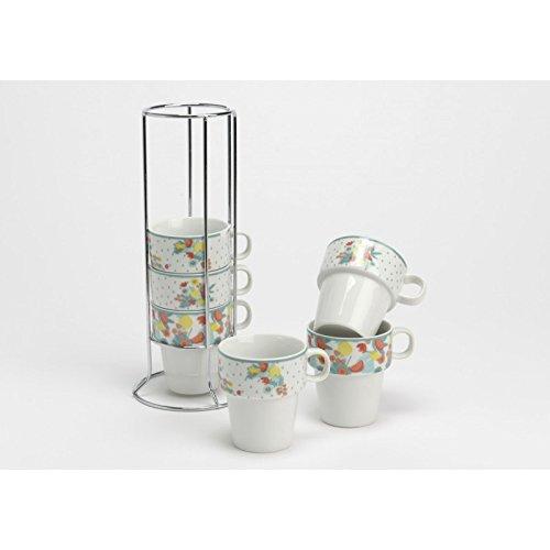 Coffret de 6 tasses Expresso Exotique avec le rack collection Korb