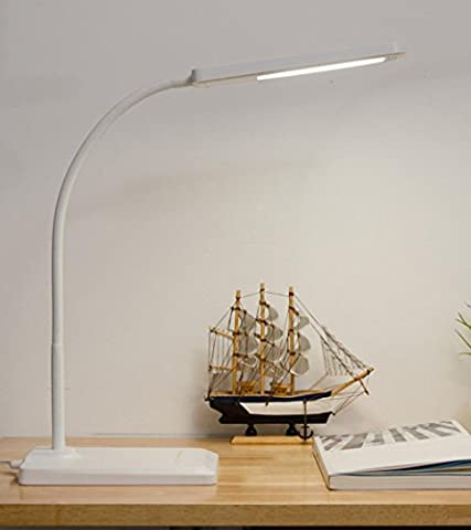 ZH Lampe De Table Led Lampe De Bureau Créative Simple Moderne De Mode 6 Fichier De Contrôle Tactile Lumière Arrêt De Synchronisation , Elegant Black , L180*W126*H400 Mm,elegant black,l180*w126*h400 mm