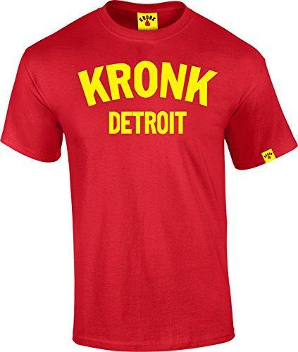 Kronk Maglietta da uomo da palestra Boxing Detroit, Thomas Hearns Emanuel Steward Rosso