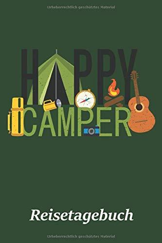 gebuch: Motiv Happy Camper | Logbuch für Trips mit dem Wohnmobil, Wohnwagen oder Zelt | 100 Seiten zum selber ausfüllen | ... | Journal mit tollen vorgefertigten Feldern ()