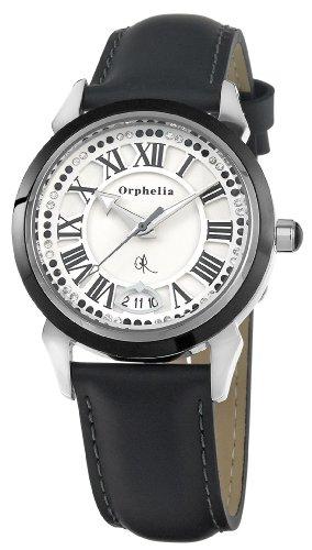 Orphelia - OR22170014 - Montre Femme - Quartz Analogique - Cadran Blanc - Bracelet Cuir Noir