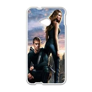 Divergent HTC One M7 Coque de téléphone WKSU6689427592721 Blanc