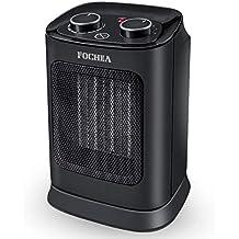 FOCHEA Calefactor Cerámico de Aire Caliente y Frio 1800W Estufa Electrica Bajo Consumo con Oscilación Automática