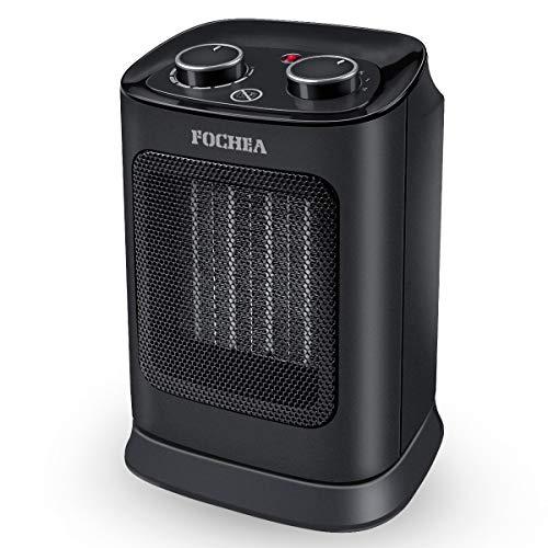 FOCHEA Calefactor Cerámico de Aire Caliente y Frio 1800W Estufa Electrica Bajo Consumo con Oscilación Automática, Protección contra Sobrecalentamiento y Volcado