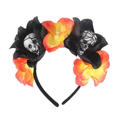 Für Erwachsene Kostüm Gewinnen - ZHUOHONG Halloween Stirnbänder - Floral Crown Haarkranz Festival Stirnbänder Rose Kranz Stirnbänder Party Haarschmuck