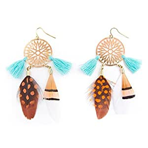 Hipanema Catch gold - Boucles d'oreilles - Attrape rêve