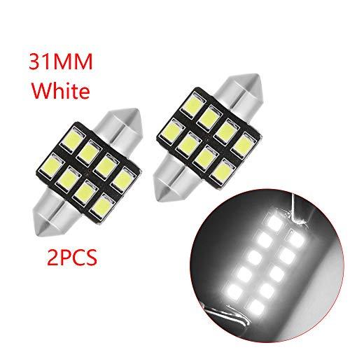 31 Ein Licht (IGORW Auto Lichtkuppel LED Auto Innenbeleuchtung DC12V 2Pcs 31mm Weiß Für Auto)
