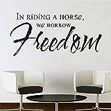Adesivi murali a cavallo Prendiamo in prestito gli adesivi murali gratis Artwork Camera da letto sfondo staccabile Home Decoration impermeabile Art Decal 94X44Cm