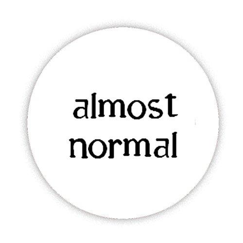 Fast Normal (Kleine Schrift) KOMPAKT Spiegel bedruckt Bespoke entworfen 58mm Rund Neuheit Make Up Spiegel ideal für Ihre Handtasche. Geschenke Kaboom