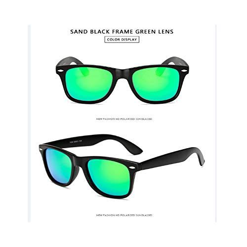 Sport-Sonnenbrillen, Vintage Sonnenbrillen, Sunglasses Männer Polarized Sunglasses Männer Driving Mirrors Coating Points Black Frame Eyewear Male Sun Glasses UV400 sand black green