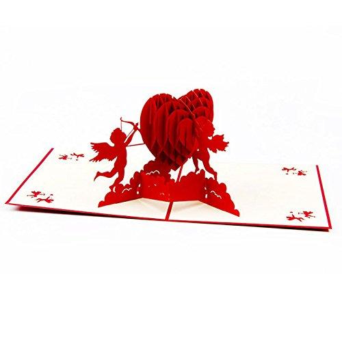 Umschlag, Hochzeit Einladung Buchstabe 3D-Karte Umschläge Dichtungen Custom Amor Herz Personalisierte Druck (Halloween-hochzeit Dusche Einladungen)
