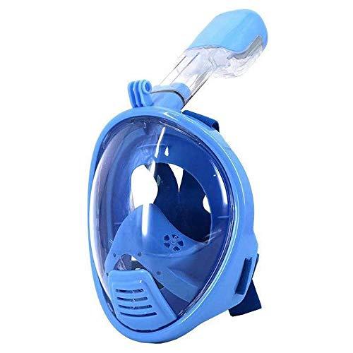 UHAPY Masque De Plongée avec Masque Facial Complet Pliable, Pression Anti-UV sur Les Oreilles, Conception Équilibrée 180 - Set De Tubas pour Enfants (Taille: S/M)