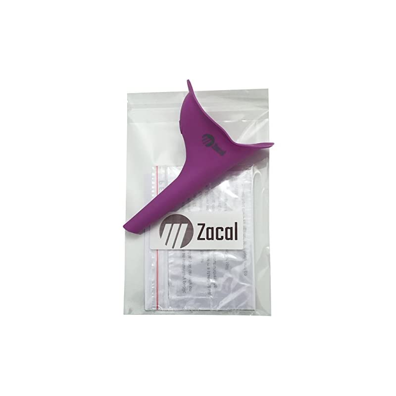 ZACAL Ladies Female Urinal – Female Urination Device Allows Women to Pee Standing Up Outdoors – No Mess or Worrying…