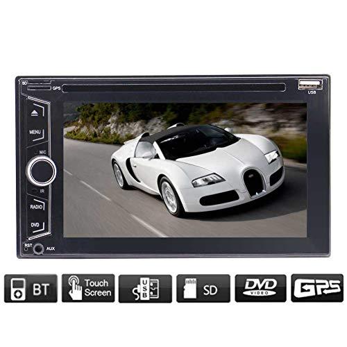 Doppel-DIN-Autoradio mit GPS-Navigation Bluetooth WINCE DVD-Players HD 1080P Video kapazitiven Touch Screen USB / TF / CD-Karten-Licht-Knopf SWC Multi Sprachen Auto-Logo Unterstützung Rückfahrkamera