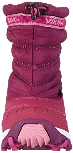 Viking Windchill Gtx, Bottes de neige de hauteur moyenne, doublure chaude mixte enfant Rose - Pink (Plum/Dark Pink 6239)
