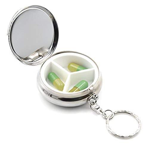 NYDZDM Pocket Pill Box Kleine Metallpillenschachtel Pillen