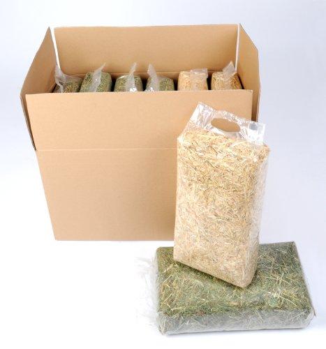 Das Probepaket vom Heukönig 3 Heu, 2 Stroh und 2 Holz Einstreu