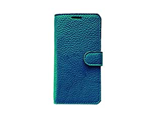 ATV Genuine Leather Royal BLUE Wallet Case Cover With Built In Stand For Asus Zenfone 2 Laser ZE550KL