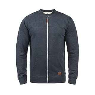 Blend Arco Herren Sweatjacke Collegejacke Cardigan Jacke Mit Stehkragen, Größe:L, Farbe:Navy (70230)