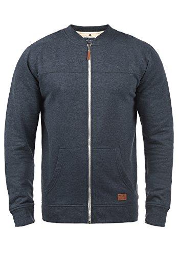 Blend Arco Herren Sweatjacke Collegejacke Cardigan Jacke Mit Stehkragen, Größe:S, Farbe:Navy (70230)