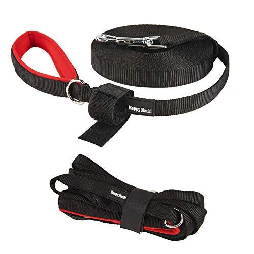 Petcomer Hundeleine aus Nylon Hundeführleine in 3 Länge Haltbar Reißfest als Übungs- und Trainingsleine mit Klettband für Lager 20/33/50Fuß -