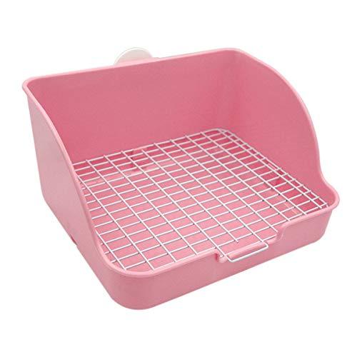 Haustier kleine Ratte WC, quadratische Töpfchen Trainer Ecke Wurf Bettwäsche Box Pet Pan für Kleintiere / Kaninchen / Meerschwein / Galasaur / Frettchen (zufällige Farbe) Pan-box