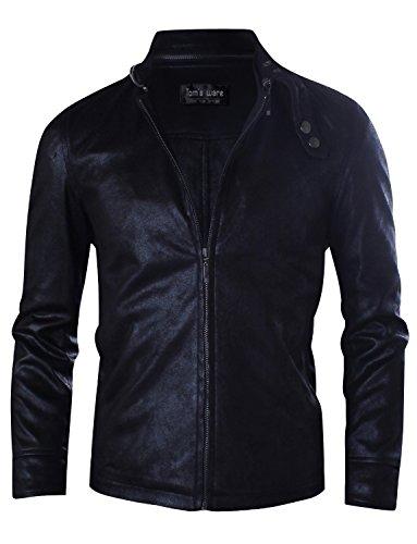 Tom's Ware Herren Rider Jacke modernes Taillen-Design TWCJ07-BLACK-US XXL