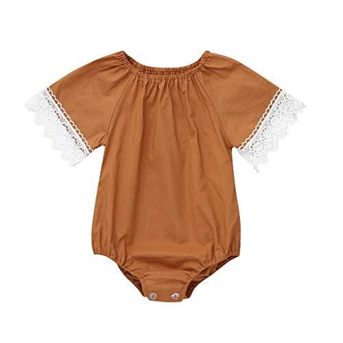 Overalls Baby MäDchen Pwtchenty Hosen Bekleidungssets Lace Bogen Spielanzug Outfits Kleidung BlumenschlafanzüGe Bekleidungs ()
