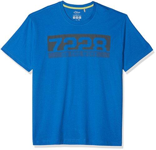 s.Oliver Big Size Herren T-Shirt 15.802.32.3232, Blau (Royal Blue 5545), XXXX-Large (Herstellergröße: XXXXX-Large) (Männer-hemd Royal Blau)