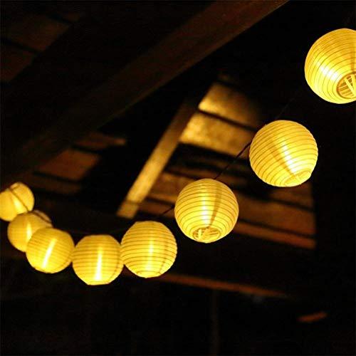 Kitlit 20LED Lichterkette Lampions Laternen Außen Batteriebetriebene Warmweiß Beleuchtung Partylichterkette Weihnachtsbeleuchtung für Garten Patio Hof Party Weihnachten Halloween Hochzeitsdeko
