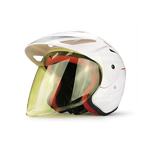 Fahrradhelm CE-Zertifiziert Einstellbarer Erwachsener Helm mit abnehmbarem Visier für Fahrrad Rennrad Fahrrad BMX Reiten Einstellbarer Erwachsener Schutz und Atmungsaktiv-White
