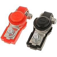2x Clips Terminal de Batería Ajustable Cobre + Cubierta para Camión Auto