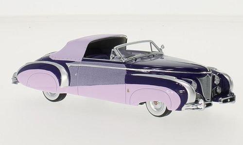 Cadillac Series 62 Saoutchik Cabriolet, lila/dunkelrosa, 1948, Modellauto, Fertigmodell, Minichamps 1:43