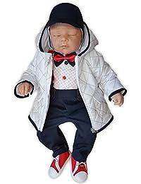 5tlg Baby Taufanzug Festanzug Babyanzug Hochzeit Festlich 56 62 68 74 80 86