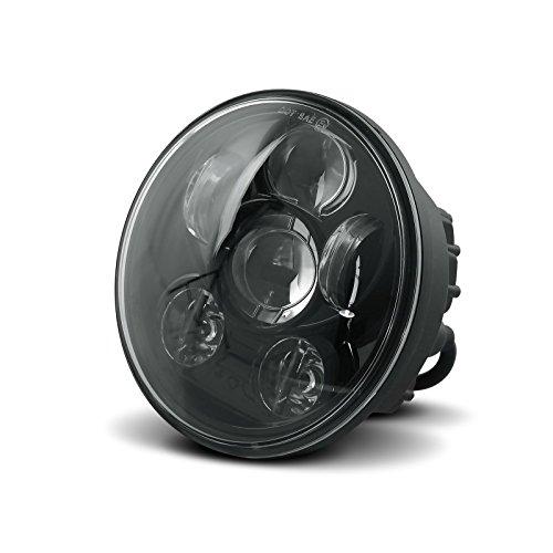 "Faro LED Craftride LED 5,75"" per Harley Davidson Sportster 883 R Roadster (XL 883 R), Superlow (XL 883 L), Forty-Eight 48 (XL 1200 X), Seventy-Two (XL 1200 V) nero"