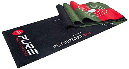 Pure2Improve P2I400020 Tapis D'entrainement Mixte Adulte, Noir/Vert
