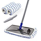 Large Surface Microfiber Flat Mop with 2 Pcs Mop Head and Cleaning Scraper