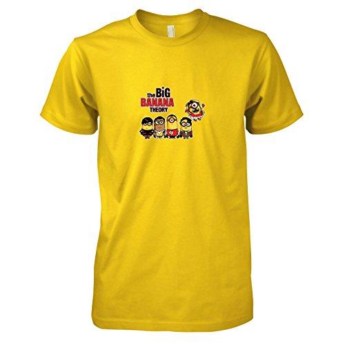 TEXLAB - Big Banana Theory - Herren T-Shirt, Größe XXL, (Sheldon Und Freundin Kostüm)