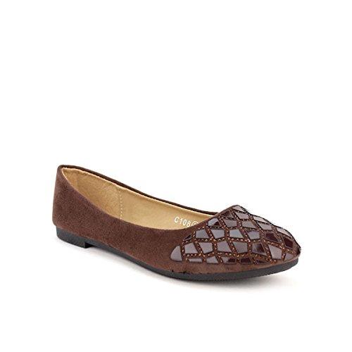 Cendriyon, Ballerine Marron VERSANA Chaussures Femme Marron