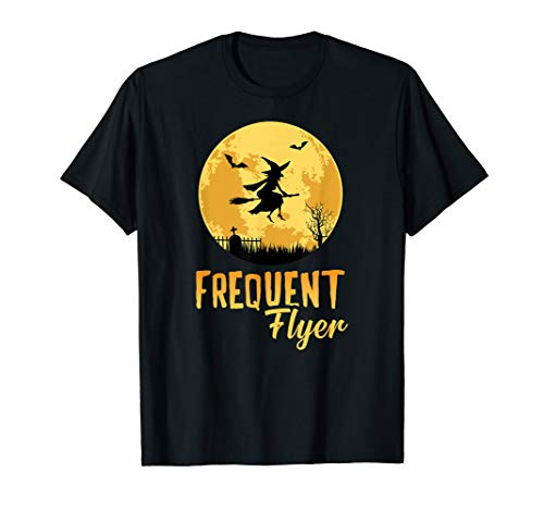 Kostüm Flyer Party Kinder - Frequent Flyer Shirt Funny Hexen Besen Party Idee T-Shirt