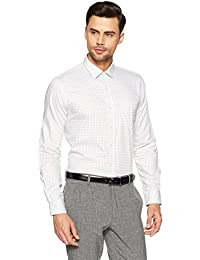 Arrow Men's Checkered Slim Fit Business Shirt