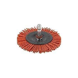 Wolfcraft 1500000 Brosse nylon rouge circulaire T6 Diamètre 75 mm