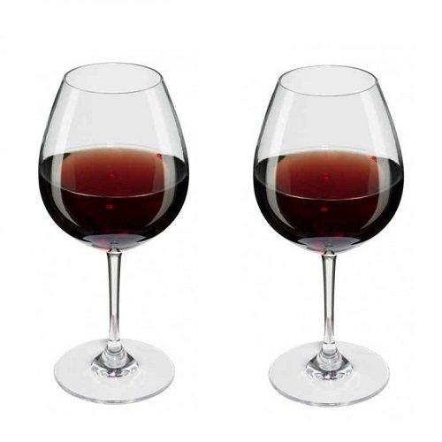Viva Haushaltswaren - 2 x bruchfestes Rotweinglas 250 ml aus hochwertigem Kunststoff, edles Weingläser Set für Outdoor-Aktivitäten etc. (wie echtes Glas)