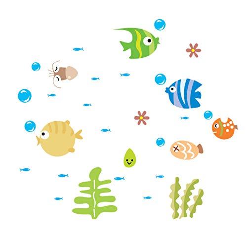 Schöne Tropische Cartoon Fisch Meer Blase Ocean World Entfernbare Wandaufkleber Aufkleber Waschraum Baby Room Dekore 25 * 44 cm -
