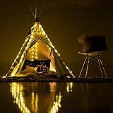Ginkago Ghirlanda luminosa per tenda da bambina Princess, 4 x Fascia per batterie regolabile Ghirlanda luminosa per tende da giardino per bambini