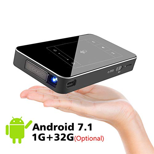 YSCCSY Mini proyector Android 7.1 WiFi 8G 32G ROM 3D Compatible 4K Proyector...