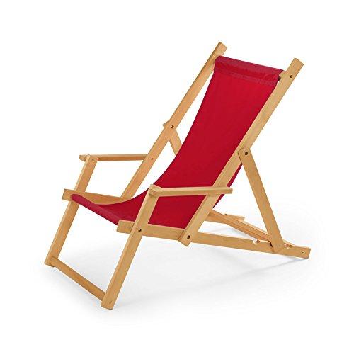 Chaise longue de jardin en bois, Transat, Chaise longue relax de plage, chaise longue avec accoudoirs. Rot