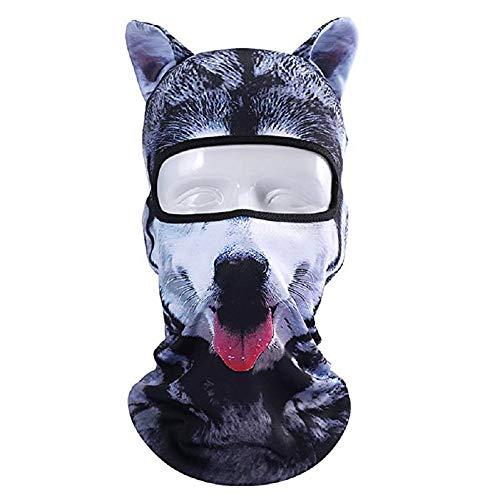 GHH Fahrradmaske 3D Tierhaube Maske Tier Sturmhaube Gesichtsmaske für Musik Festivals, Raves, Ski, Halloween, Winddicht, staubdicht, Sonnenschutz für Outdoor-Aktivitäten, BBG06