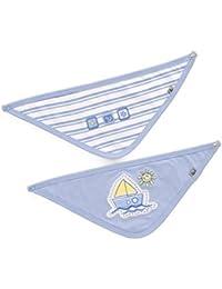 JACKY Baby Halstuch Halstücher Blau im 2er Pack Sailing Boat