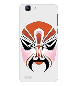 EPICCASE Beijing Opera Orange Mask Mobile Back Case Cover For Vivo X 3s (Designer Case)
